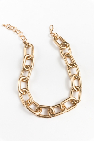 Bold CCB Chain Necklace, Gold