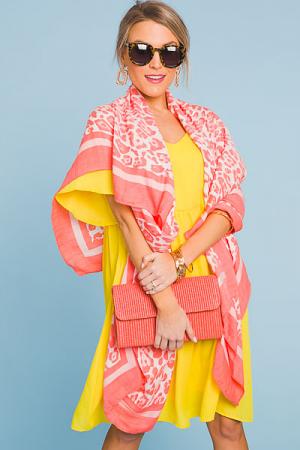 Just Peachy Cheetah Kimono