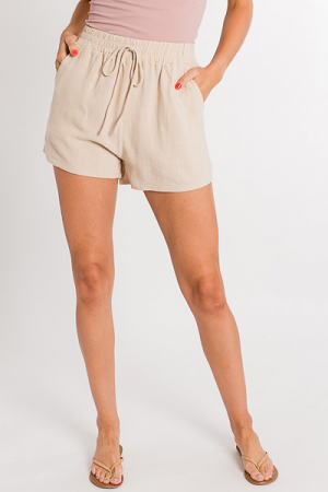 Easy Pull on Shorts, Natural