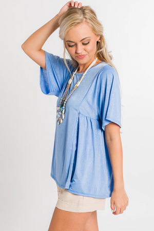 Free Fall Top, Blue