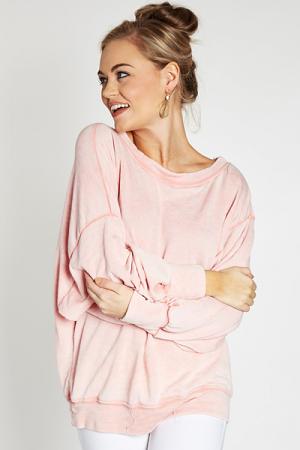 Tumbled Sweatshirt, Blush