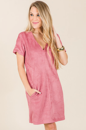 Rose Fields Suede Dress