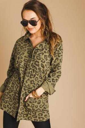 Cheetah Utility Jacket, Olive