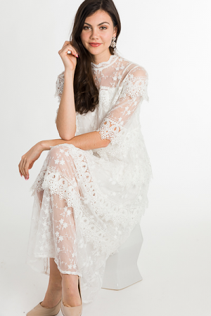 Slip on By Lace Maxi, White