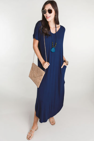 Oversized Pocket Maxi, Navy