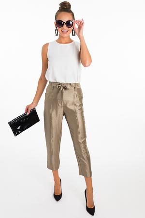 Belted Metallic Pant
