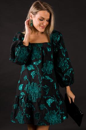 Green Crinkle Dress