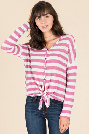 Rosewood Waffle Weave Top