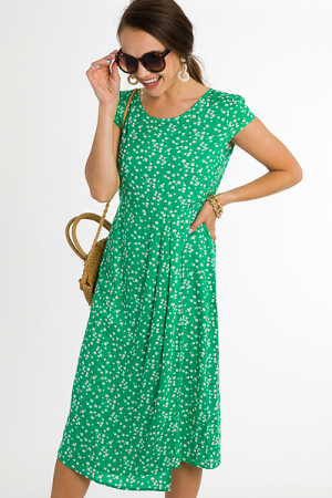 Dandelion Dream Dress, Green