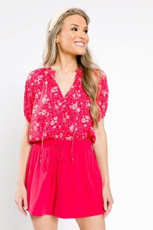 Macie Floral Top, Pink