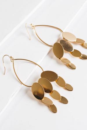 Oval Cascade Earrings
