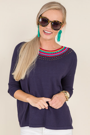 Obsession Sweater, Navy