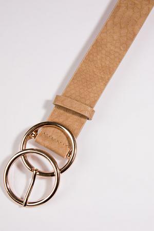O Ring Belt, Nude Snake