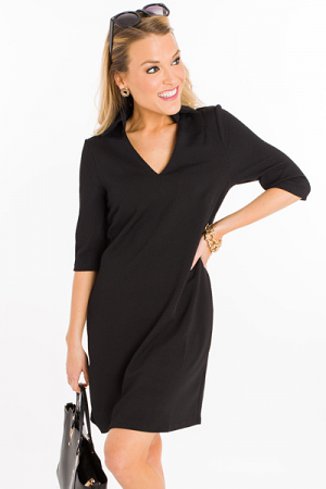 Woven Wonder Dress, Black