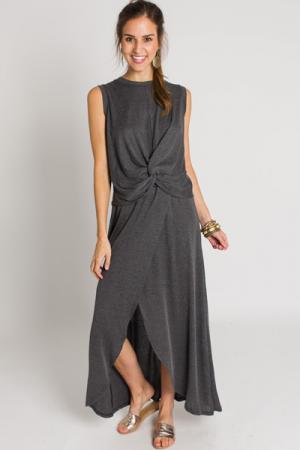 Maxi Skirt Set, Charcoal