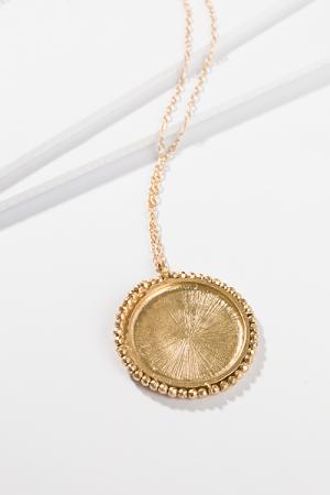 Halo Pendant Gold Necklace