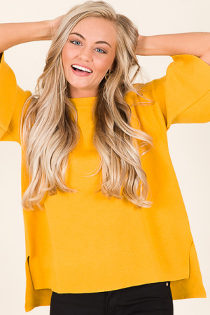 Lucia Sweater, Mustard