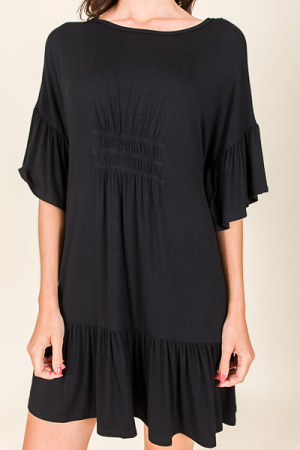 Madeline Knit Dress, Black