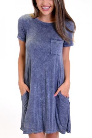 Mineral Wash T-shirt Dress