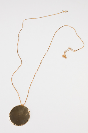 Shine Side Disc Necklace