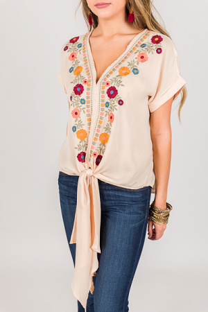 Boho Queen Top, Cream