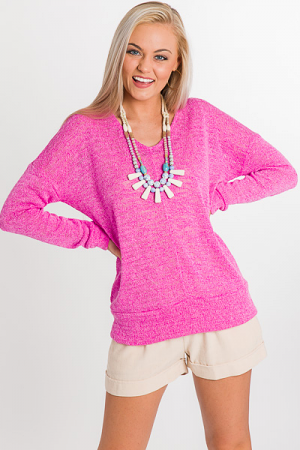 Pink Banded Pullover