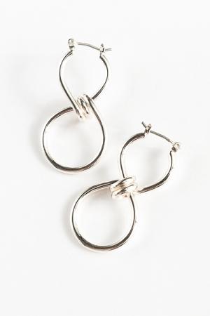 Infinity Knot Earrings, Silver