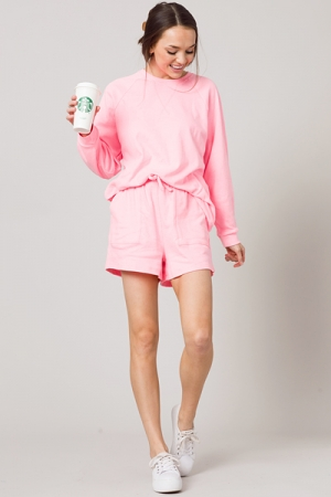 Weekender Shorts Set, Pink