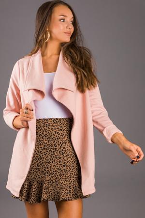Flounce Hem Skirt, Leopard