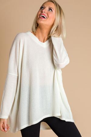 Knit Girl Tunic, Ivory