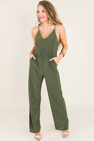 In Motion Jumpsuit, Olive