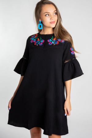 Gorgeous in Gauze Dress, Black