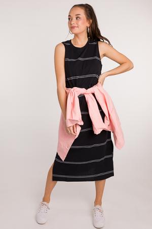 Quinn Knit Midi, Black