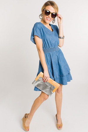 Smock It Out Denim Dress