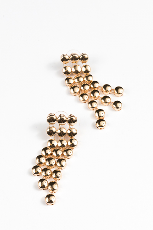 BB Rows Earring, Gold