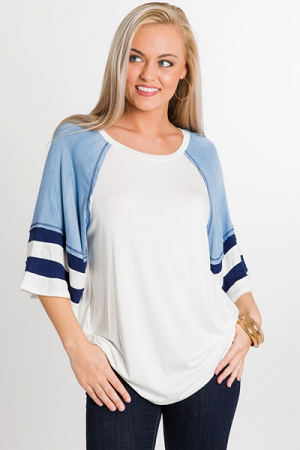Sporty Soft Tee, Blue