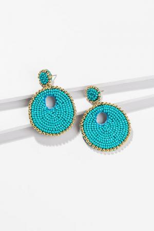 Circular Bead Earring, Turquoise
