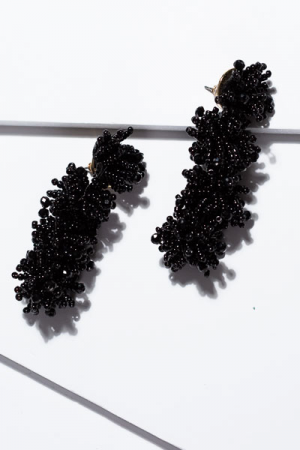 Burst of Beads Earring, Black