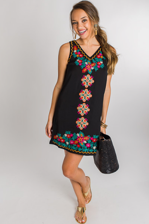 Cherokee Blooms Shift, Black