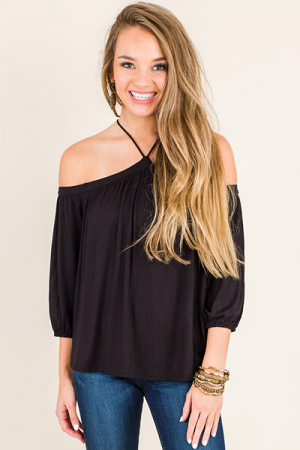 Kimee Top, Black