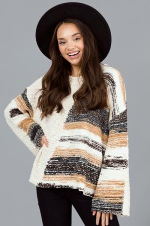 Sedimentary Sweater, Ivory Multi