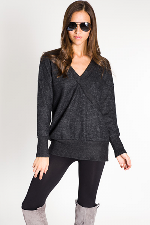 Brushed & Plush Pullover, Charcoal