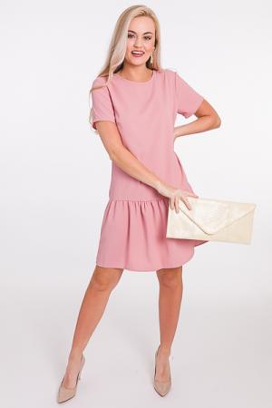 Scoop Back Solid Dress, Mauve