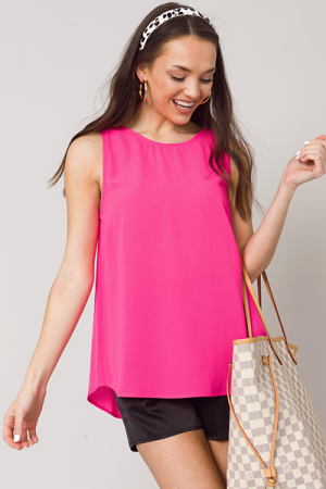 Kimberly Tank, Hot Pink