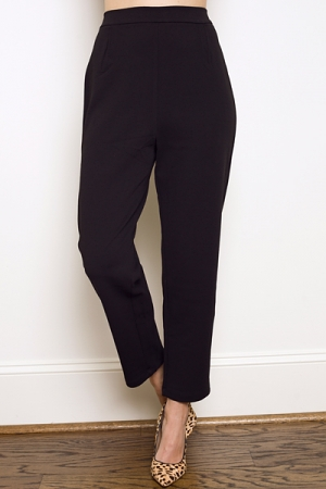 Straight Stretch Trouser, Black