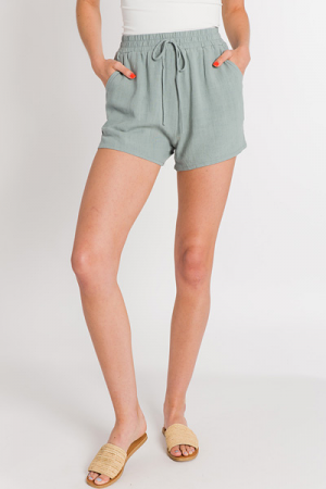 Easy Pull on Shorts, Slate
