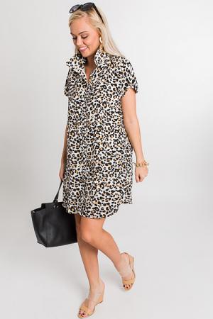 Lottie Leopard Shirt Dress