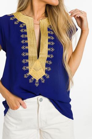 Golden Girl Blouse, Blue