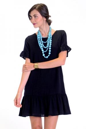 Ruffled Up Dress, Black
