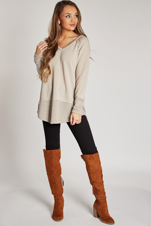 Lounge Around Pullover, Taupe